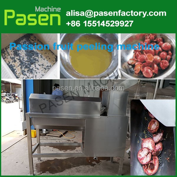 Commercial passion fruit peeling machine/ pineapple pulp extractor/passion fruit juice extracting machine