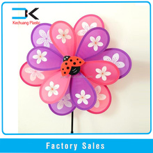 Two layer fabric windmill for garden decoration