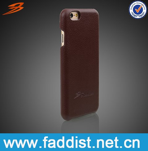 Free sample China bulk buy mobile phone accessories 4.7 inch leather back cover cell phone case for iphone 6