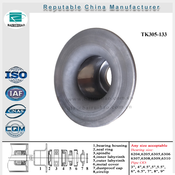 roller chock for large breeding industry China factory pressed idler roller accessories bearing housing