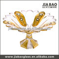 Gold plating flower shaped plates,sunflower shaped plate,round shape plate with stand