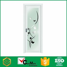 Aluminum white frost glass interior french door