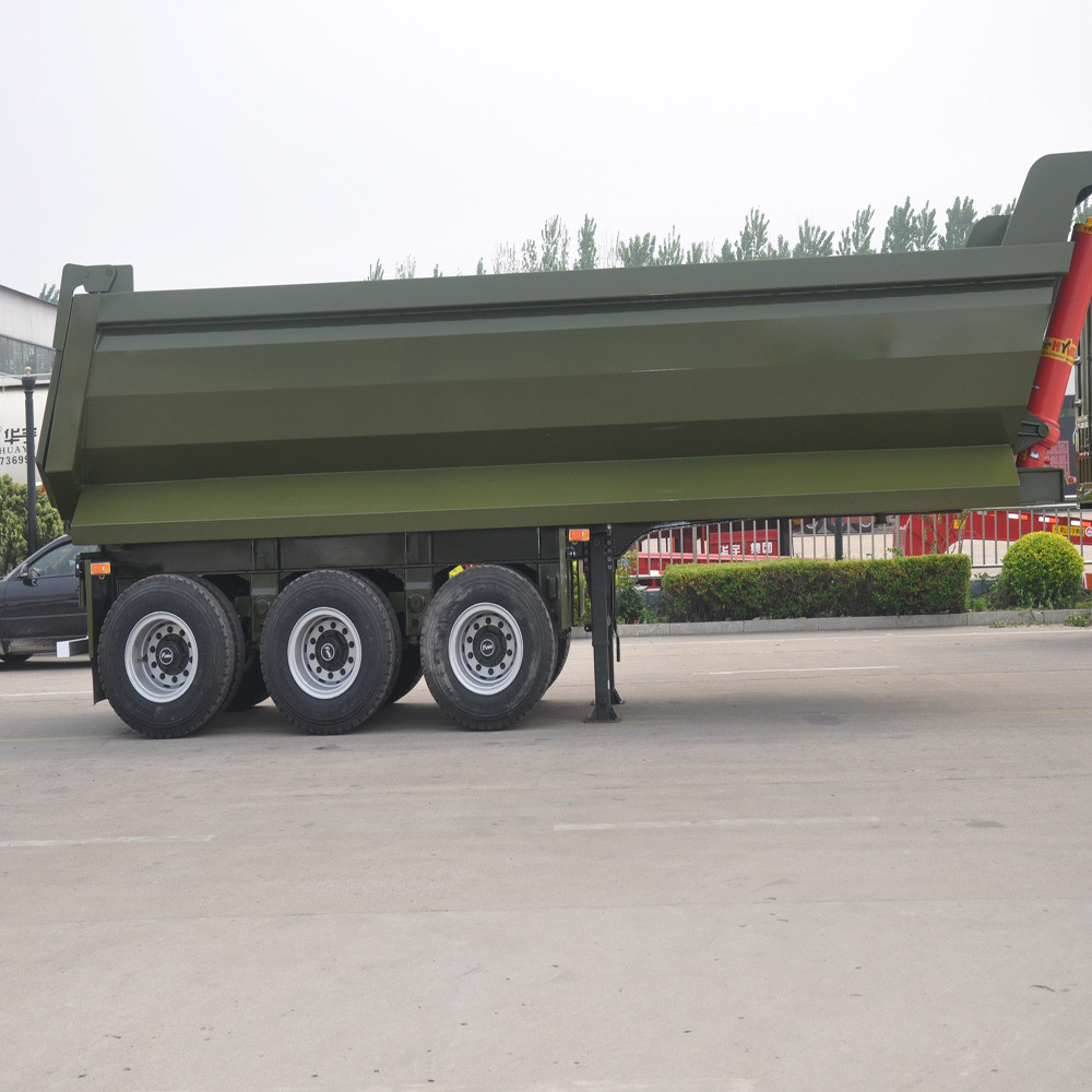Tri-axles Platform Rear Dump Semitrailer/Dump Semi Trailer