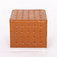 Modern Cube Ottoman leather furniture Cube Ottoman