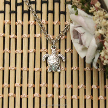 New Fashion Tibetan Silver Pendant Turtle Tortoise Sea Choker Charm Short Long DIY Necklace Factory Price Handmade Jewelry