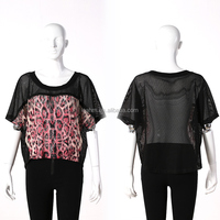 High Quality Cotton Spandex Lady's Shirt Blouse Top , short sleeve different types of blouse designs