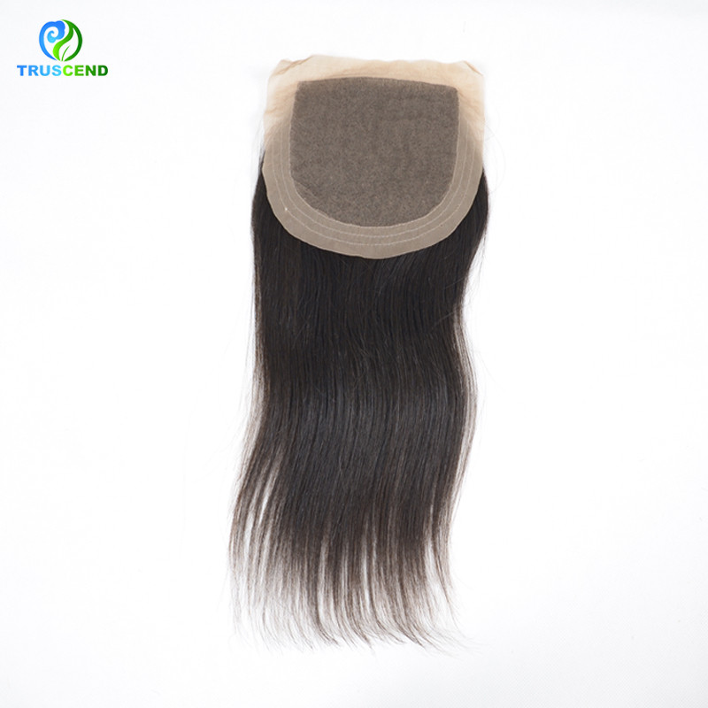 Cuticle Contained Quality Hair Different Types Stock Straight Silk Base Closure