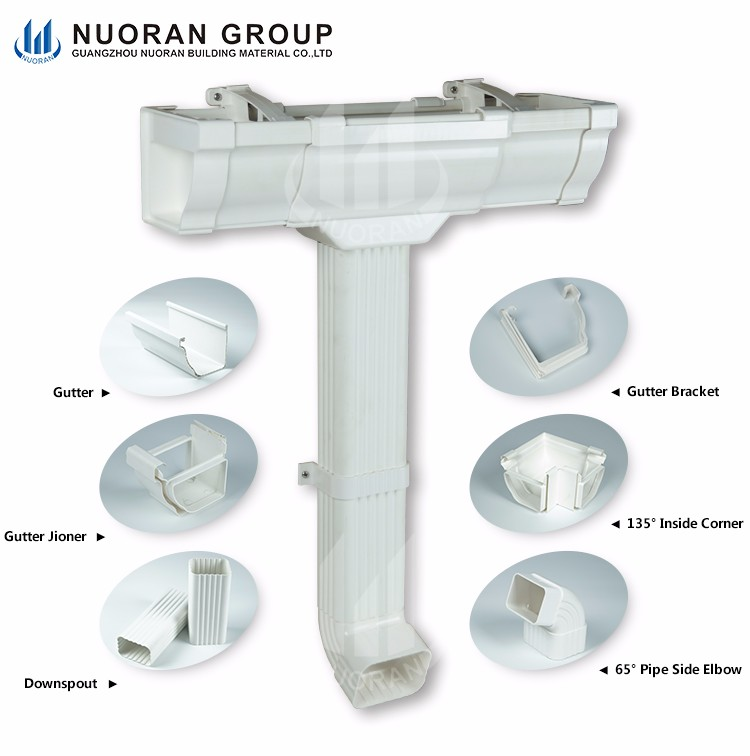 Customized Roofing Drainage Material 3m Length Straight Aluminum Gutter Size