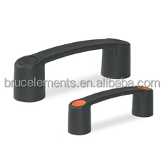 Plastic Bridge Handle with short dead-end thread and covering caps BK38.0022