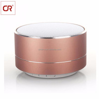 Wholesale New Product Wireless Outdoor Strong Bass Music Mini LED Round Portable Speaker