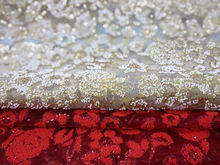 Hot selling Vogue Design Bead Organza Fabric for Garment Wedding Dress