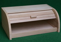 hot sale environmtal unfinished large wood Bread box with slid lid