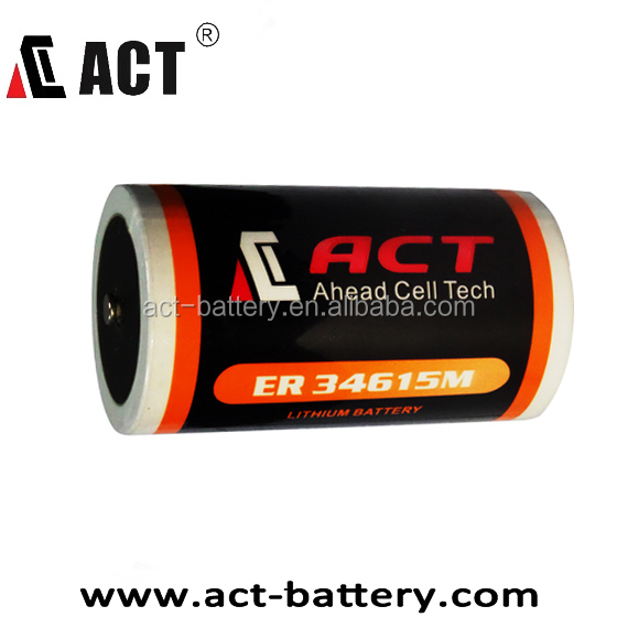 ACT Replacement EVE 3.6V ER34615M D size 14.5Ah Alarm Battery