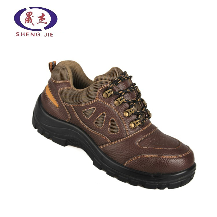 genuine leather sport type construction work safety shoes