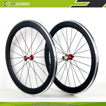 60mm carbon wheels China bicycle clincher wheelsets 60mm road bike wheelsets with Alloy braking surface