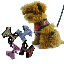 Best Selling Tartan Design Puppy Leads Nylon Dog Harness
