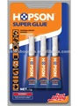 HCA-D03 HOPSON 3pcs/card Aluminum Tube Super Glue(Double Blister)