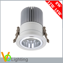 8W 12W 15W Embedded Light Fixture Ra80 Cob Led Ceiling Light 3 Inch