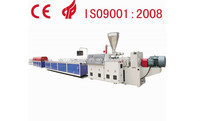 WPC wood plastic conical twin screw profile extruder machine