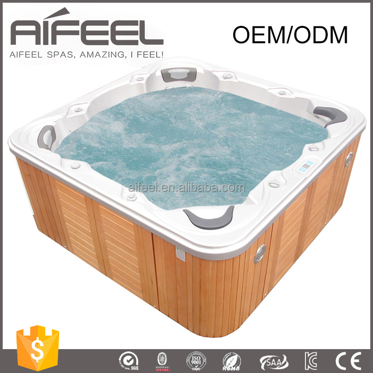 2017 hot sale 6 Persons freestanding acrylic whirlpool massage balboa system commercial portable hot tub outdoor spa