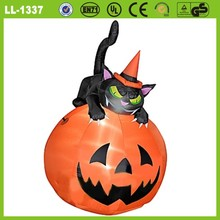 Hot sale Airblown halloween inflatable lighting pumpkin decoration
