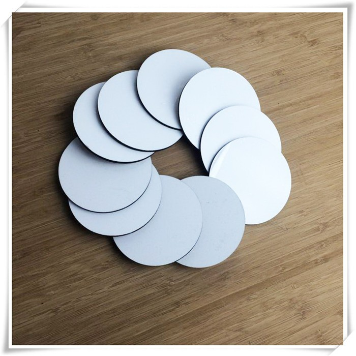 DYE sublimation round MDF placemats blanks free samples