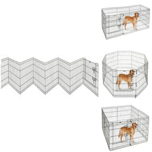 High Quality 30 Inch Dog Playpen Exercise Pen Large Metal Dog House / 8 panel Dog Playpen