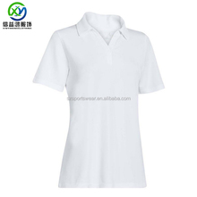 100% Polyester quick dry lawn bowls ant-uv polo shirt for women