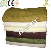 100% Bamboo Fiber Material and Plain Style bamboo clean towel