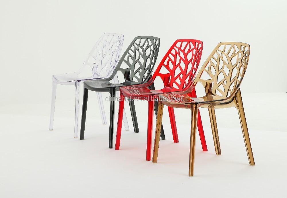 Dise o moderno de pl stico cristal acr lico silla chairpc - Sillas plastico diseno ...