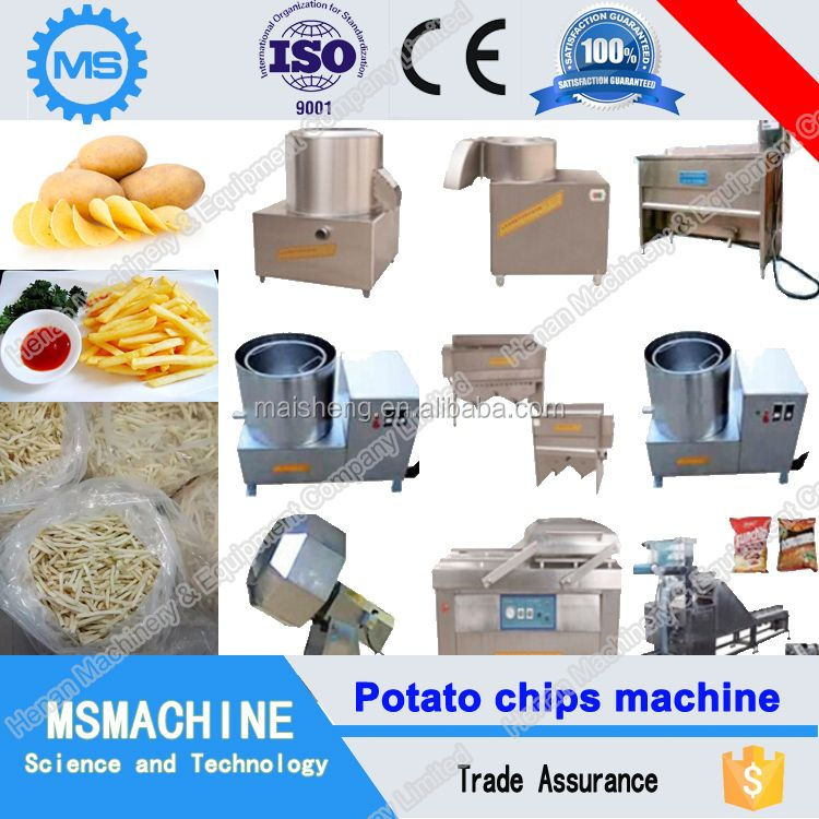 Multi-function frozen french fries production line
