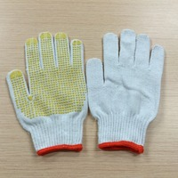 China Cheap Price Safty Cotton Dotted Garden Work PVC Glove