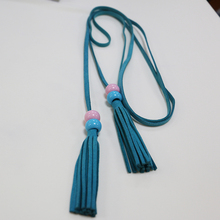 Fashion Multicolor Beaded Tassel Suede Leather Tassel