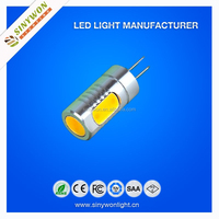 Energy saving 2015 sinywon socket g4 DC12V COB With CE RoHS SIZE 19*51mm 400lm G4 LED Bulb Light