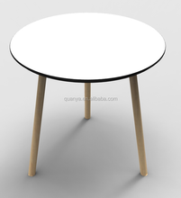 Simple style plastic dining round table customer size coffee table
