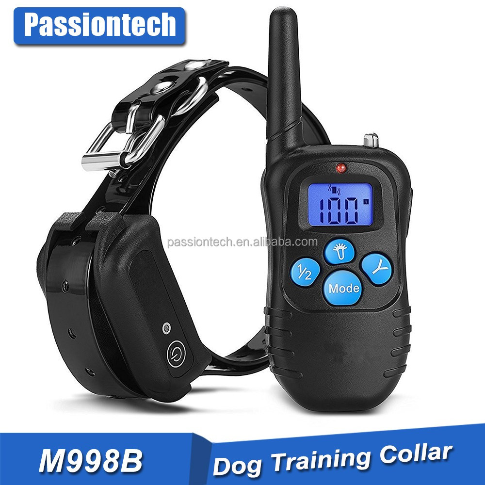PETM998B Rechargeable and Rainproof 330 yd Remote Dog Training Shock Collar with Beep, Vibration and Shock