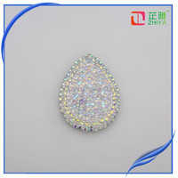2015 can make holes flatback resin crystal rhinestone buttons