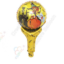 witch hand holder balloon Hand Stick Mylar Balloon