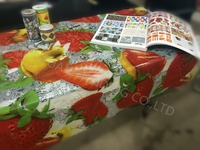 Fruit Design Plastic Clear Print Table Cloth PVC Transparent Print Dinning Decorative Table Cover
