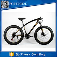 Fashionable special 21 speed aluminum alloy frame fat tire bike disc brake snow bicycle