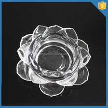 Clear crystal lotus flower candle holder wedding favors