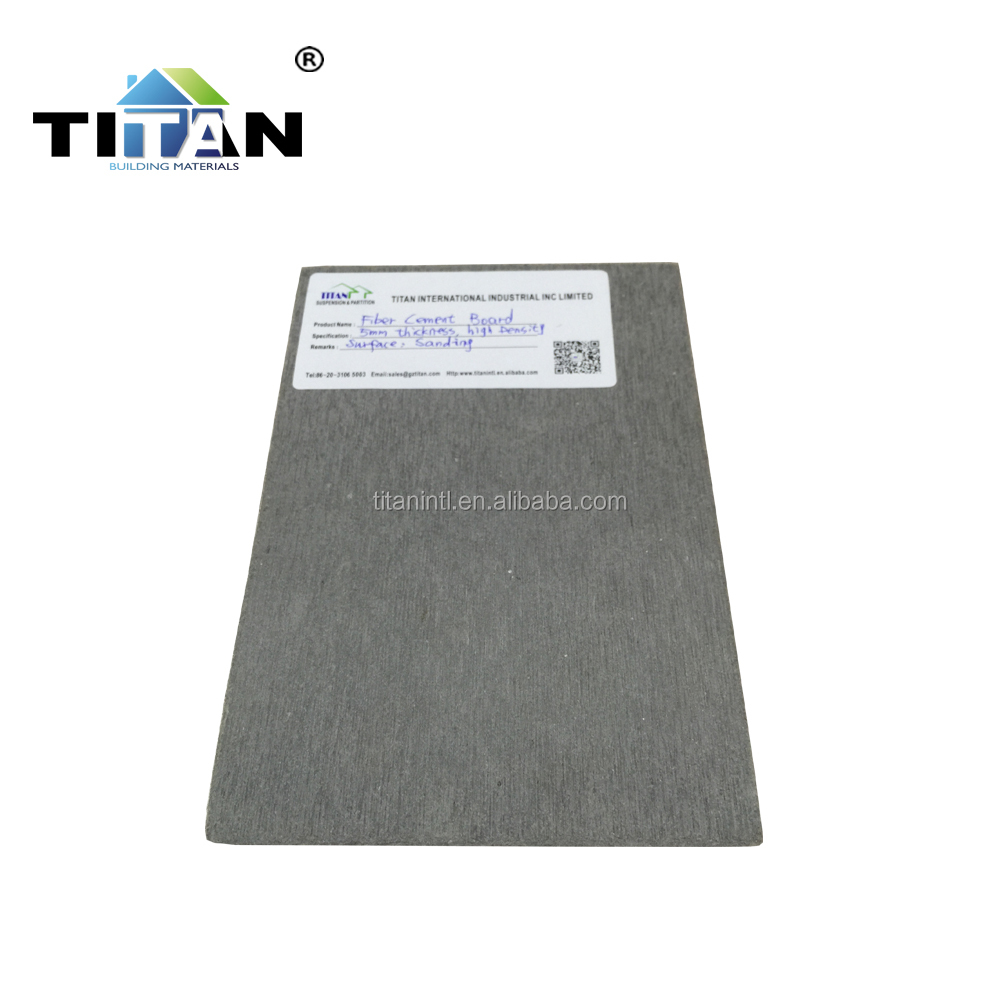 Light Wall Panel Non Asbestos Fire Rated Fiber Cement Board Wall