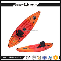 Hot sale cheap plastic single fishing kayak wholesale rowing boat