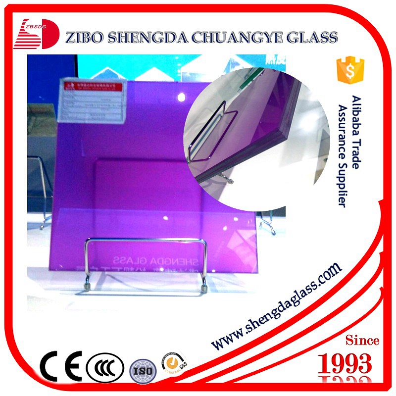 Manufacturer reflective+tempered laminated glass with broken glass