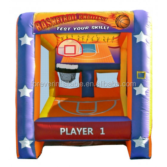 Commercial kids inflatable basketball challenge