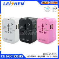 2015 Singapore Malaysia Hong Kong United Kindom thailand Colorful Travel Plug Adapter,UK USB Wall Charger 5V 1A Output