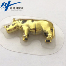 Sex capsule 10g gold rhino shape powerful sex capsule for man