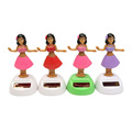 Customized plastic hula dancing girl for car