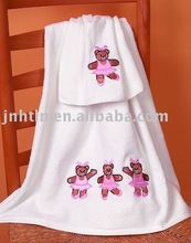 applique cotton bath towel