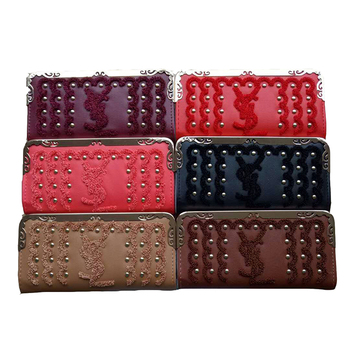 ASWAN Factory Large Capacity Leather Women Wallet